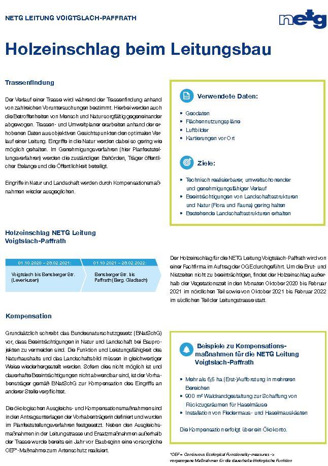 Factsheet Holzeinschlag Seite 1
